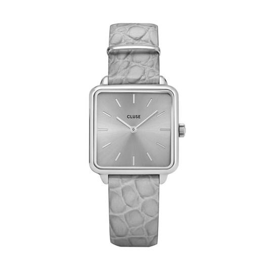 Cluse La Tetragone Silver Grey/Grey Alligator Watch