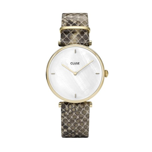 Cluse Triomphe Gold White Pearl/Python Watch