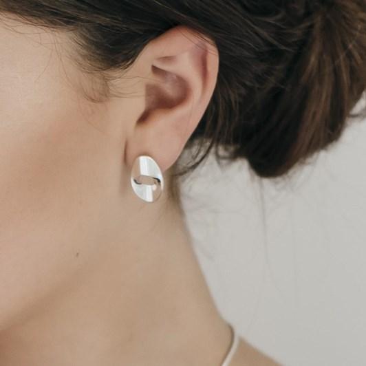 Black Matter Small Earrings In Sterling Silver