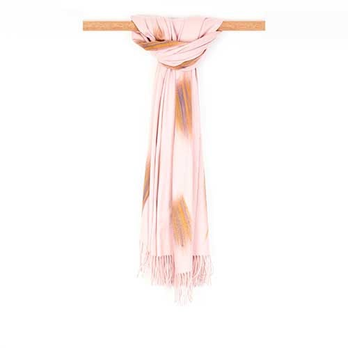 J J Sisters Woven Cotton Viscose Blend Scarf
