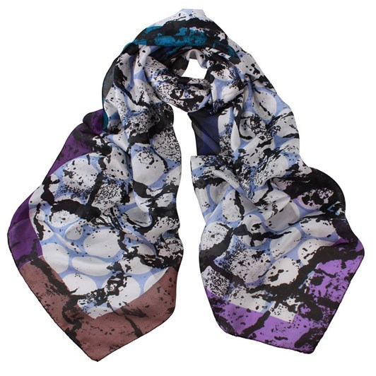 Dlux Monroe Spot Print Silk Scarf