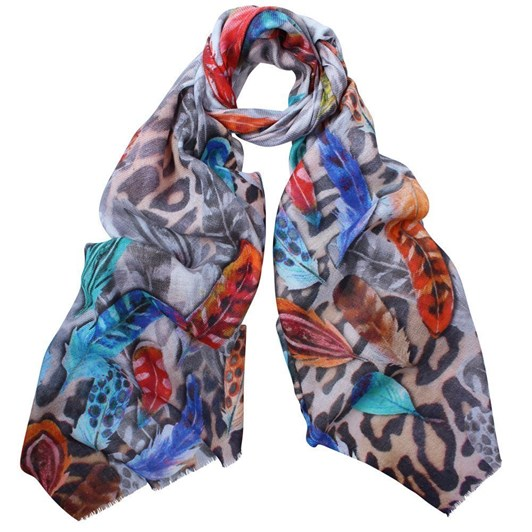 Dlux Aurora Feather/Animal Scarf
