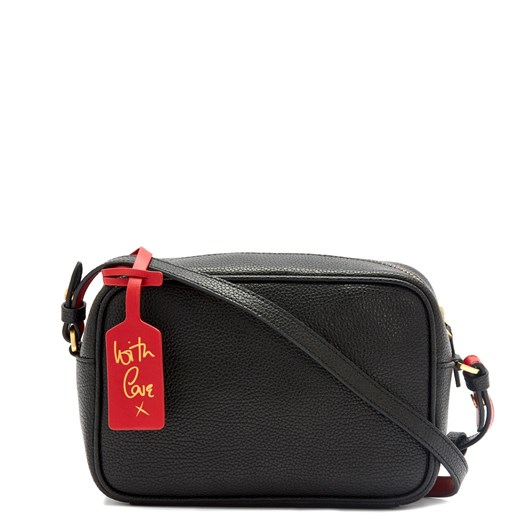 Lulu Guinness Black Leather Patsy Cross Body Bag