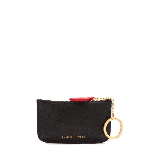 Lulu Guinness Black Leather Frankie Pouch