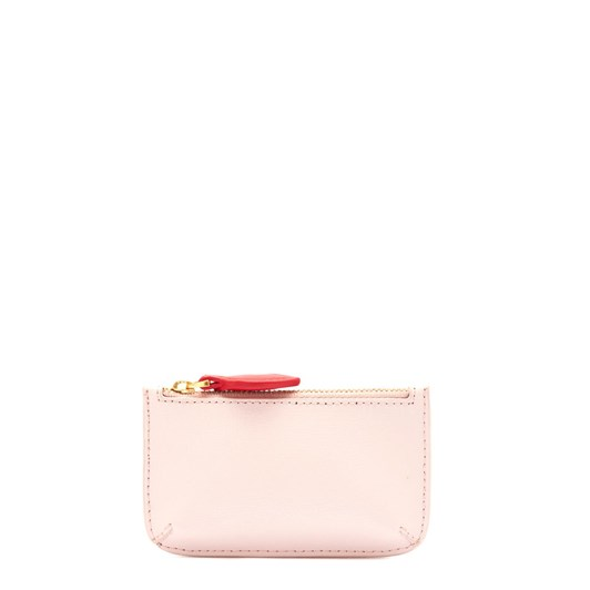 Lulu Guinness Blush Leather Frankie Pouch
