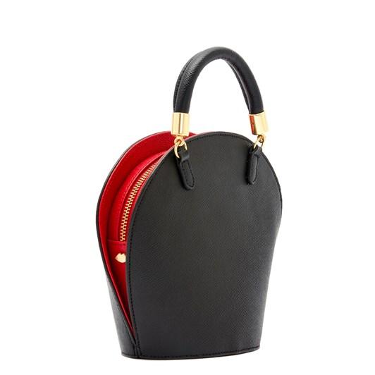 Lulu Guinness Black Leather Willow Handbag