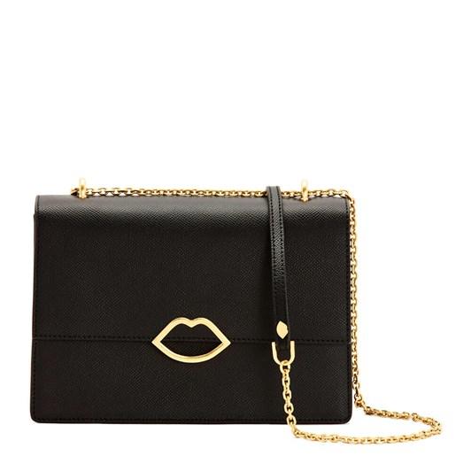 Lulu Guinness Black Leather Poppy Handbag