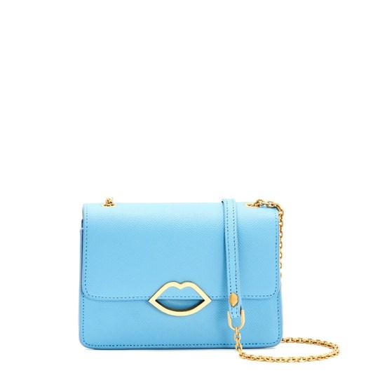 Lulu Guinness Sky Blue Leather Polly Clutch Bag