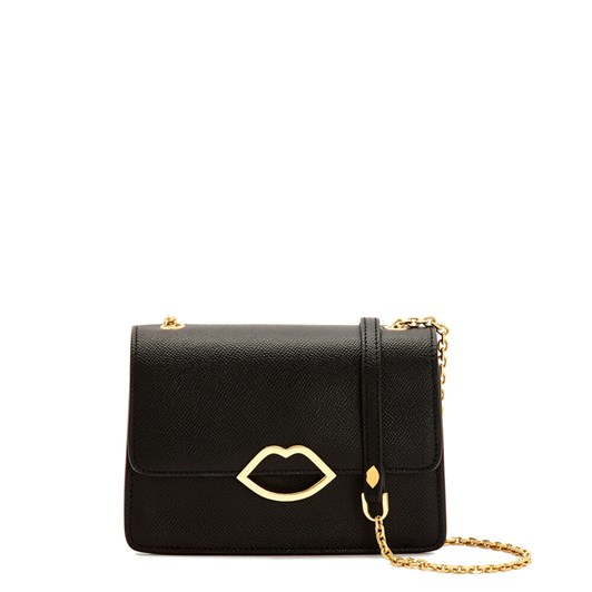 Lulu Guinness Black Leather Polly Clutch Bag
