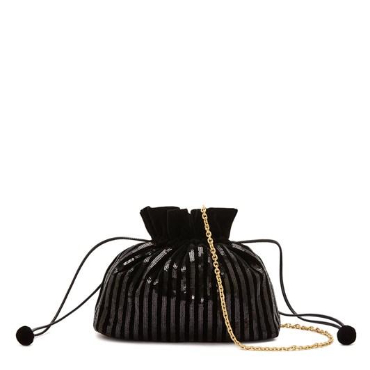 Lulu Guinness Black Sequin Stripes Lizbeth