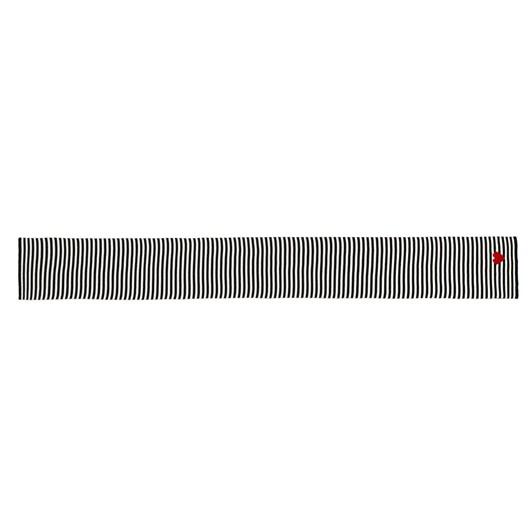 Lulu Guinness Red Black Heart Stripe Knitted Scarf