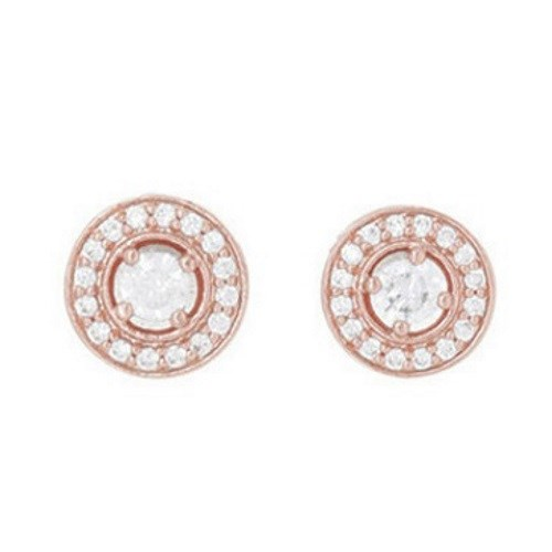 Gregory Ladner Cz With Small Cz Surround Earrings