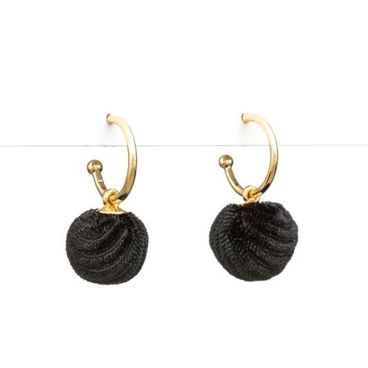 Stella & Gemma Earring Ball Of Black Velvet