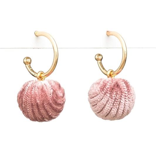 Stella & Gemma Earring Ball Of Blush Velvet