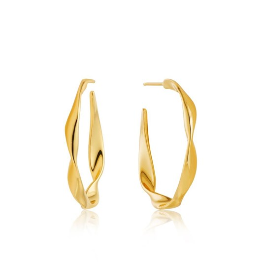 Ania Haie #8A Twister Twist Hoop Earrings