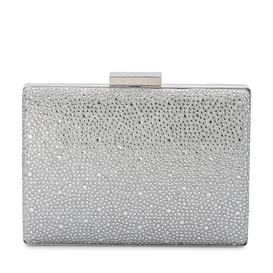 Olga Berg Gabby Metallic Hot Fix Clutch
