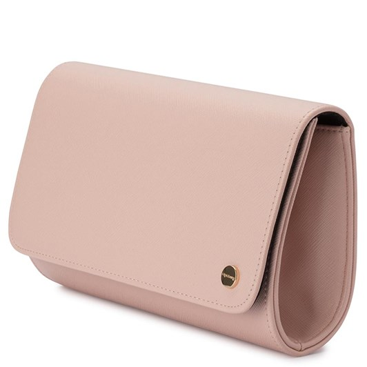 Olga Berg Anabelle Saffiano Fold Over Clutch