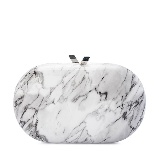 Olga Berg Quartz Oval Clutch