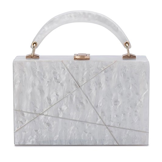 Olga Berg Genevieve Acrylic Box Top Handle Clutch