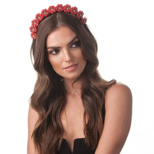 Olga Berg Amara Enamel Flower Headband