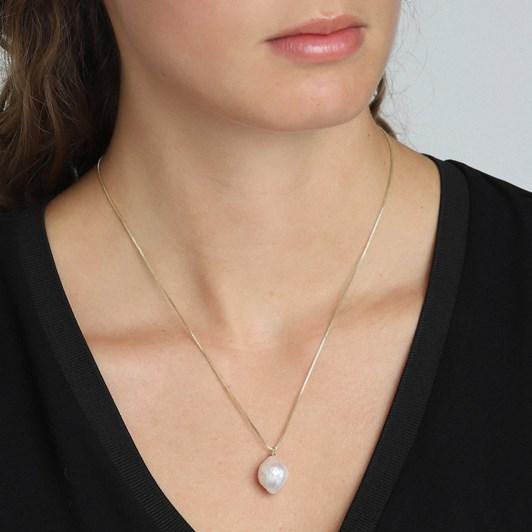 Pilgrim Ama2 Gold Plated White Necklace