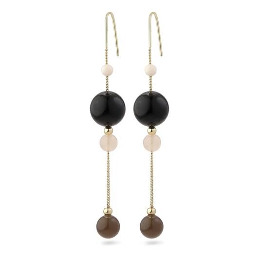 Pilgrim Gold Plated Black Earrings