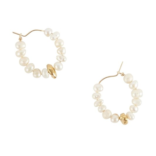 Holly Ryan Keshi Pearl Nugget Hoops - 9Ct Yellow Gold