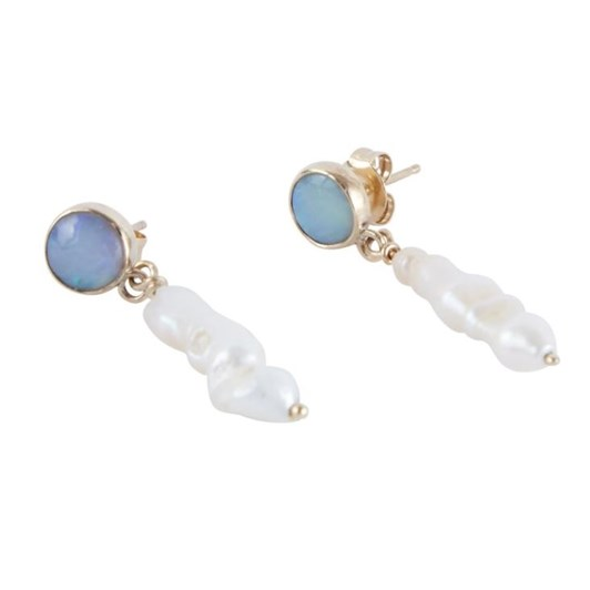 Holly Ryan Australian Opal & Keshi Pearl Drops