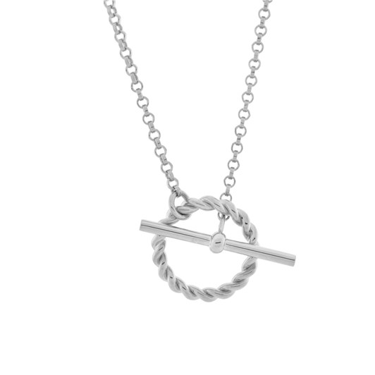 Monarc Jewellery Corda T-Bar Necklace. Sterling Silver