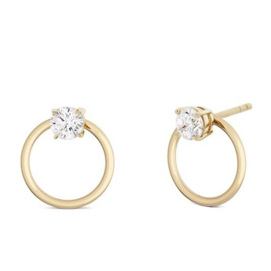 Monarc Jewellery Orla 2-in-1 Diamond Solitaire Earrings.