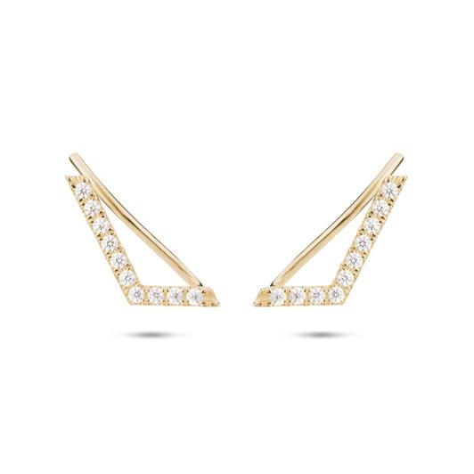 Monarc Jewellery Chevron Ear-Pin Gold