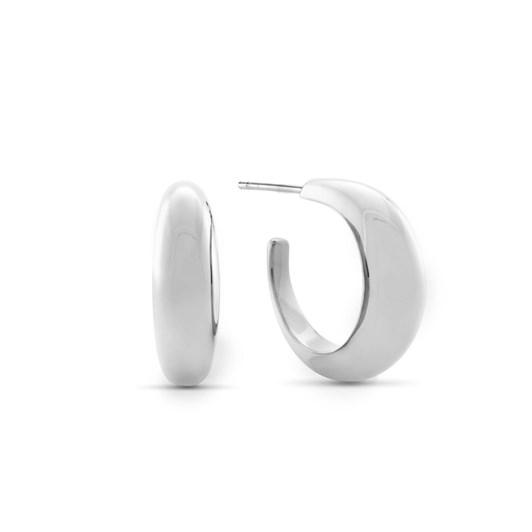 Monarc Jewellery Courbure Hoop Earrings. Sterling Silver