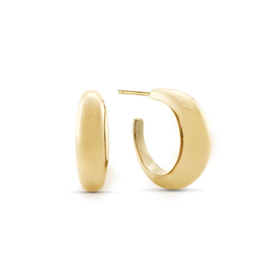 Monarc Jewellery Courbure Hoop Earrings. Gold Vermeil