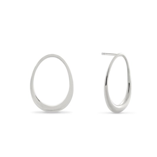 Monarc Jewellery L'Ovale Earrings. Sterling Silver