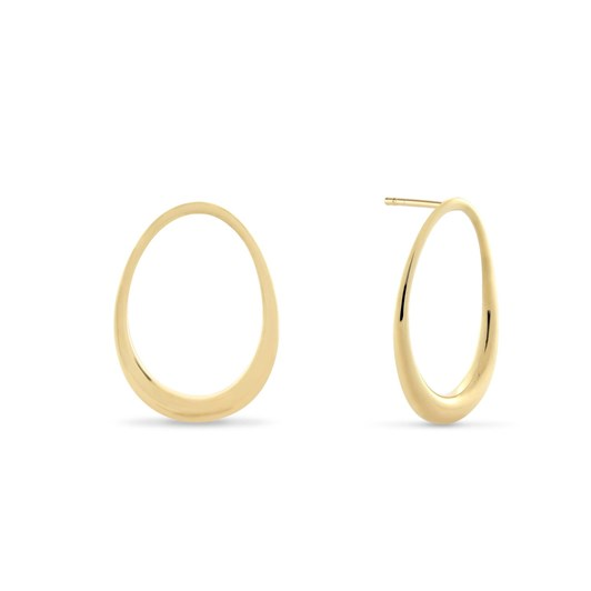 Monarc Jewellery L'Ovale Earrings. Gold Vermeil
