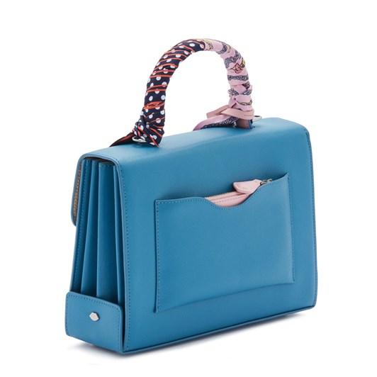 Lulu Guinness Sailor Blue Large Leather Queenie Handbag