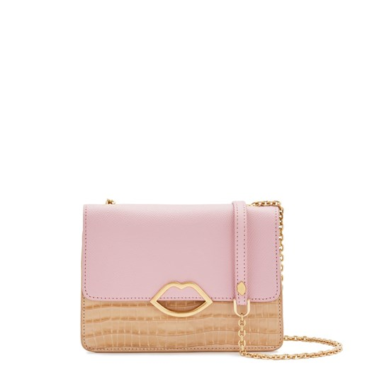 Lulu Guinness Almond and Blossom Croc Polly Clutch