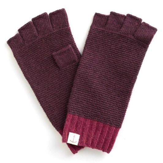 Seasalt Coppicing Fingerless Gloves Dark Freesia