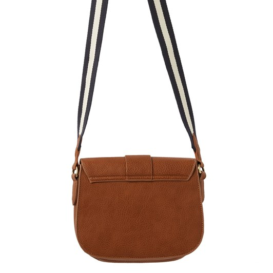 Joules Bridport Bright Faux Leather Saddle Cross Body Bag