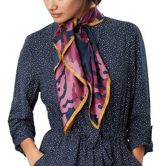 Joules Bloomfield Silk Square Scarf