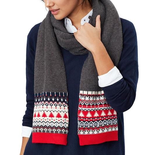 Joules Swirlton Fairisle Knitted Scarf
