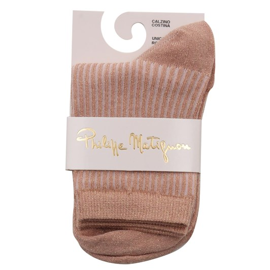 Philippe Matignon Shimmer Effect Cotton Socks