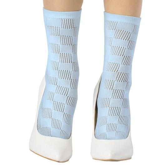 Emilio Cavallini Checked Crochet Socks