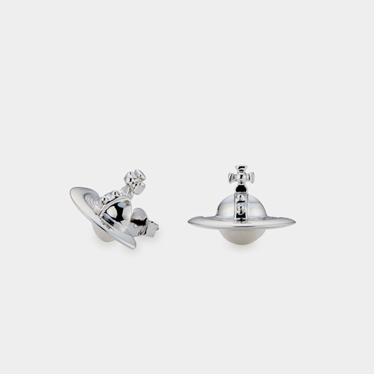 Vivienne Westwood Solid Orb Earrings Rhodium (925)