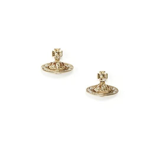 Vivienne Westwood Pina Bas Relief Earrings Gold Crystal