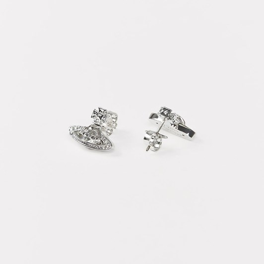Vivienne Westwood Pina Bas Relief Earrings Rhodium Crystal
