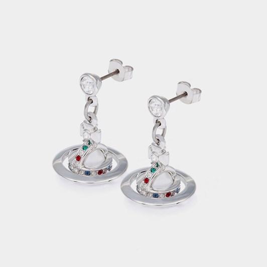 Vivienne Westwood New Petite Orb Earrings Rhodium (925)