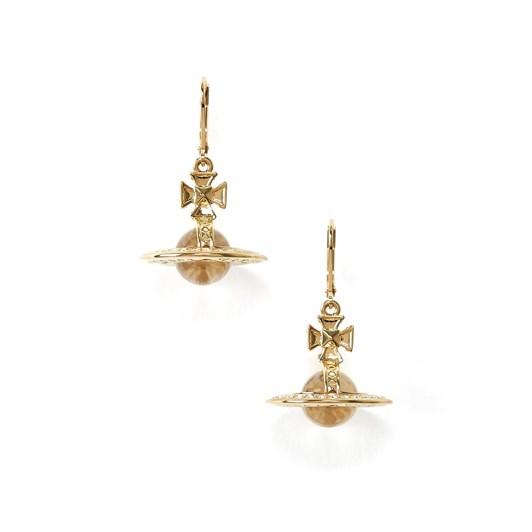 Vivienne Westwood Pina Orb Earrings Gold Crystal