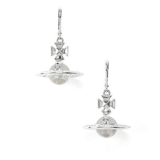 Vivienne Westwood Pina Orb Earrings Rhodium Crystal