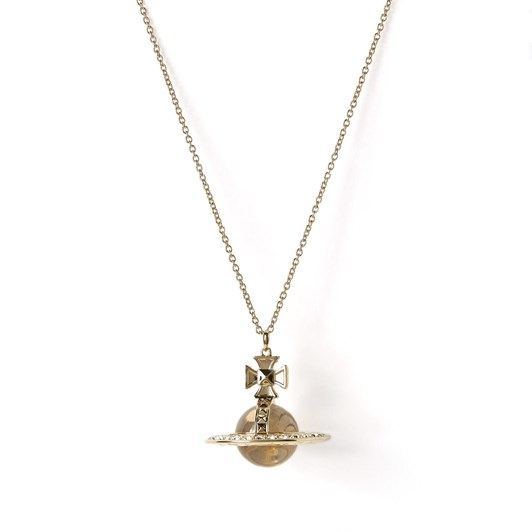 Vivienne Westwood Pina Orb Pendant Gold Crystal